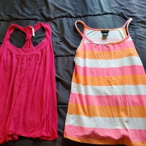 women large  pink and striped tank